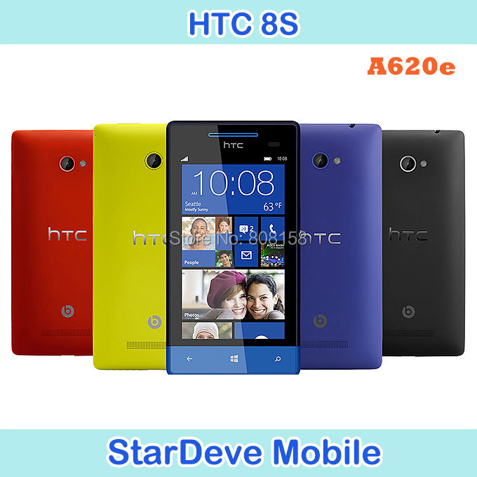 Original 8S HTC Windows Phone 8S A620e 3G 5MP Wifi GPS 4 inch Unlocked Smart Cell Phone Free Shipping(China (Mainland))