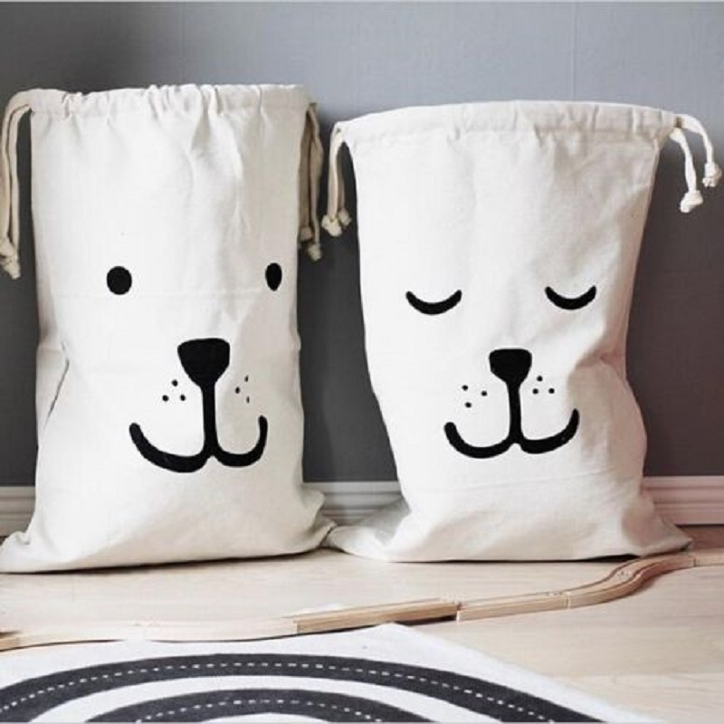 New arrival Fashion Baby Toys Storage Soft Comfortable Canvas Bags Bear Batman Laundry Pouch Drawstring High Quality(China (Mainland))