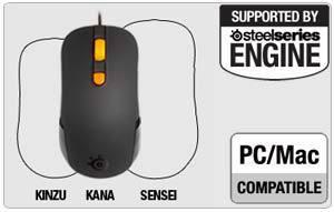 SteelSeries Kana Gaming Mouse, Black