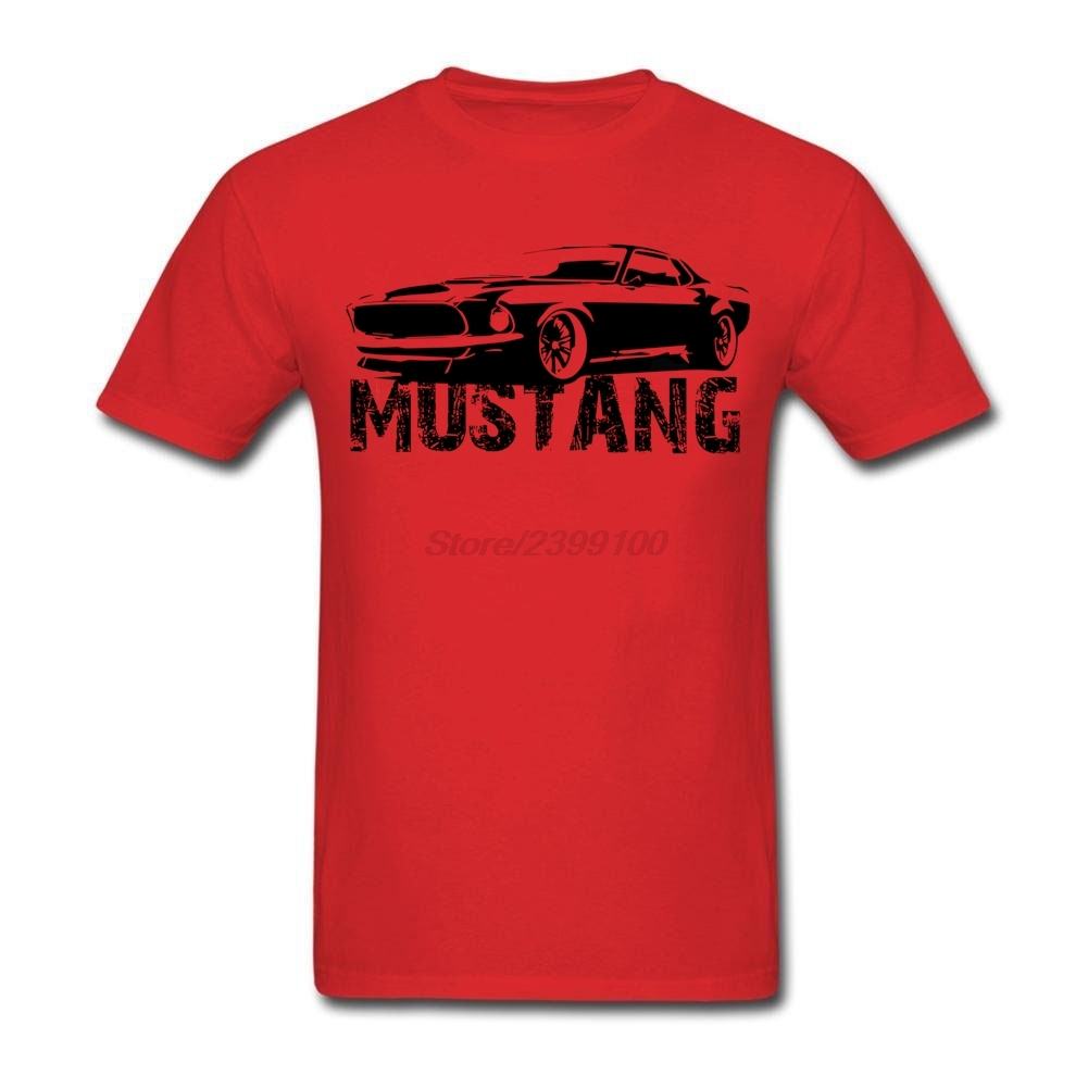 Creative Mustang Front Tees Shirt Men's Short Sleeve Crewneck Cotton Plus Size Couple Tshirt(China (Mainland))