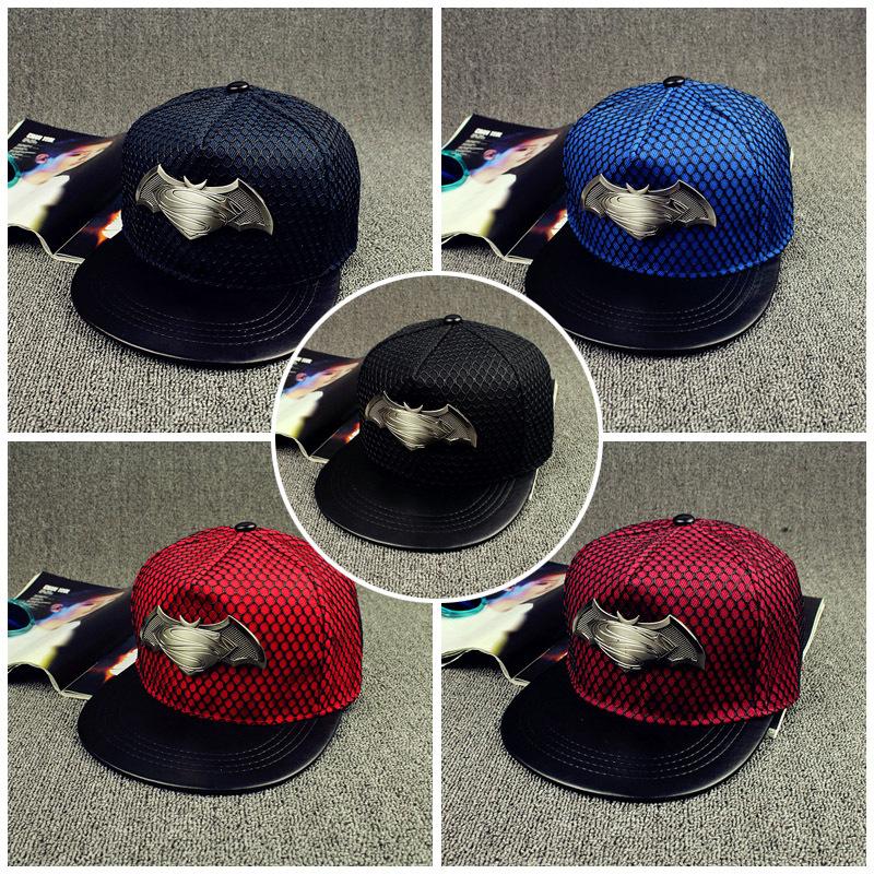 Wholesale 2016 New Fashion Superman Snapback Hats Hip Hop Caps For Women Men Street Leisure Batman Baseball Cap Hat Bone(China (Mainland))