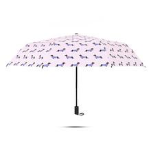 Полосатый рисунок собаки зонтик солнечные дождливые розовые зонты женские карманные трехсложный Зонт свежие вечерние зонты для собак(China)