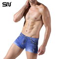 New design Print cowboy underwear cotton boxers men breathable men s underwear sexy panties u convex