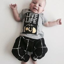 2pcs Newborn Infant Baby Boys Girls Clothes T-shirt Tops+Long Pants Outfits Sets 2016 Hottest Selling