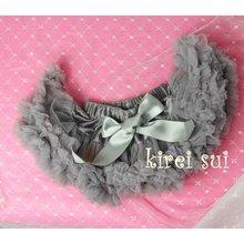 Newborn Infant Baby Girls Pettiskirt Tutu Skirt 0-6M - Silver Gray(Hong Kong)