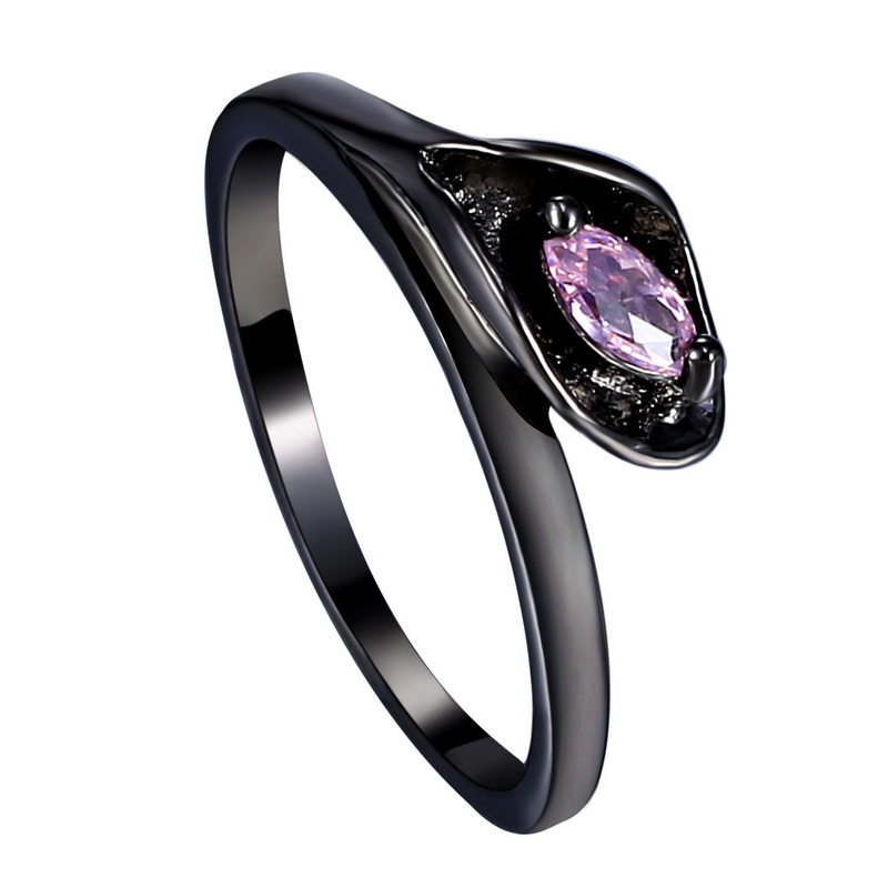 Classical Wedding Ring Black Gold Filled CZ diamond jewelry Vintage Engagemen