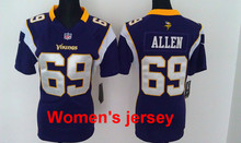 A+++ Women ladies all stitched Minnesota Vikings ladies 5 Teddy Bridgewater 28 Adrian Peterson 84 Cordarrelle Patterson(China (Mainland))