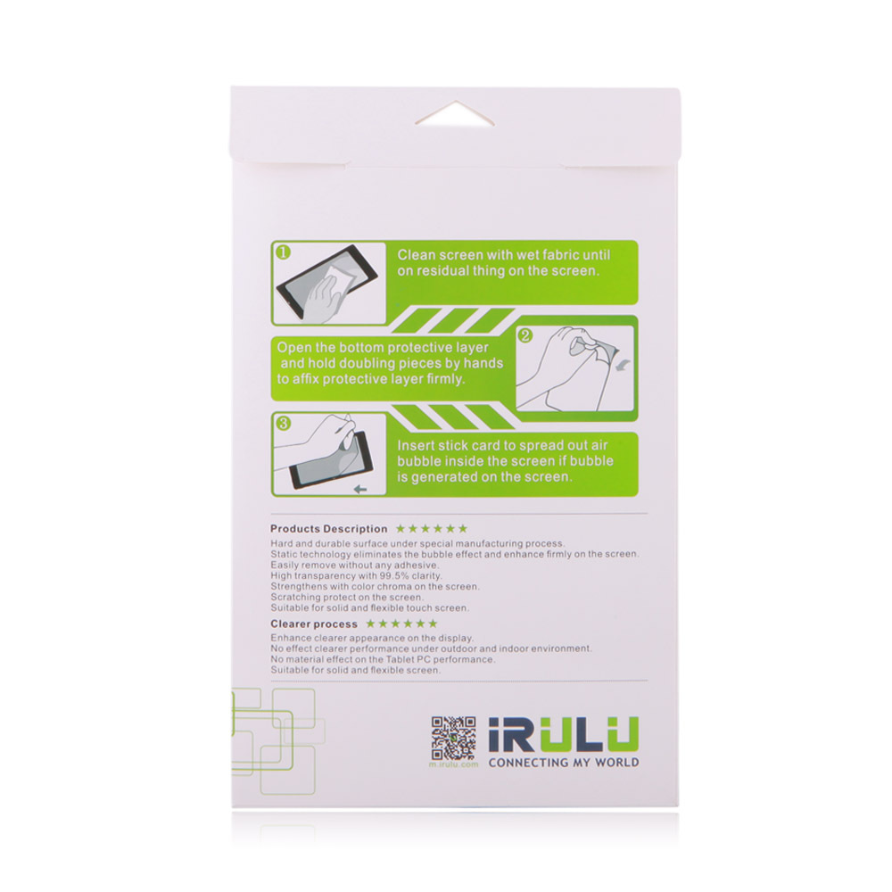 IRULU 7 Tablet Screen Protector Protective Film for IRULU Q8 Tablet Accessories Wholesale Pet Lots 2015