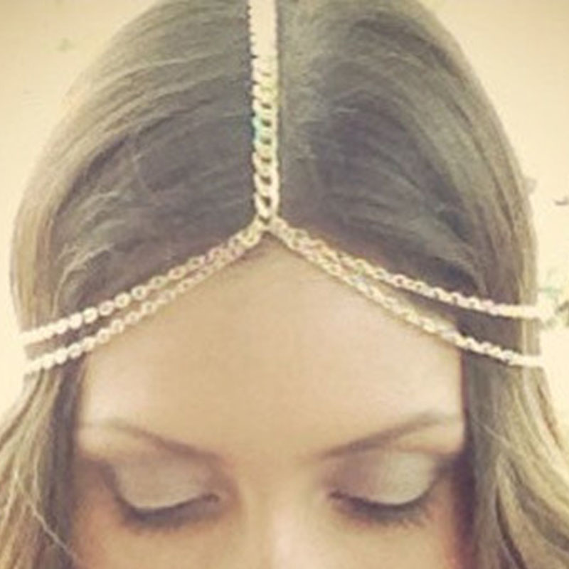 Womens Hot Fashion Metal Head Tassel Chain Jewelry Headband Head Piece Hair Band New Arrive(China (Mainland))