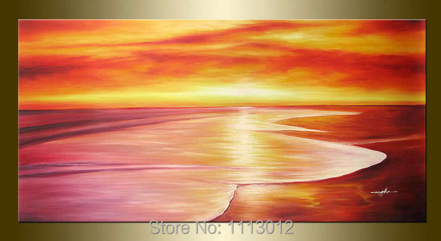 Hand Painted Modern Home Decoration Seascape Oil Painting On Canvas 1 Panel Art Set Large Wall Abstract Picture For Living Room
