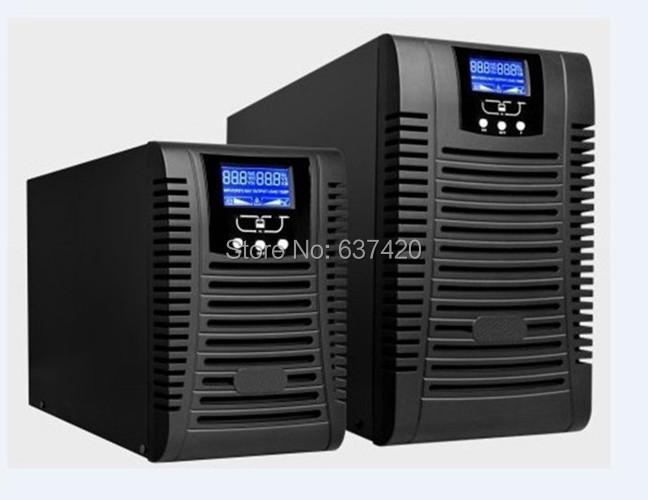 220v input 110v output 50HZ 60hz 1kva UPS Long Backup Time LCD UPS with External Batteries DHL Free Shipping(China (Mainland))
