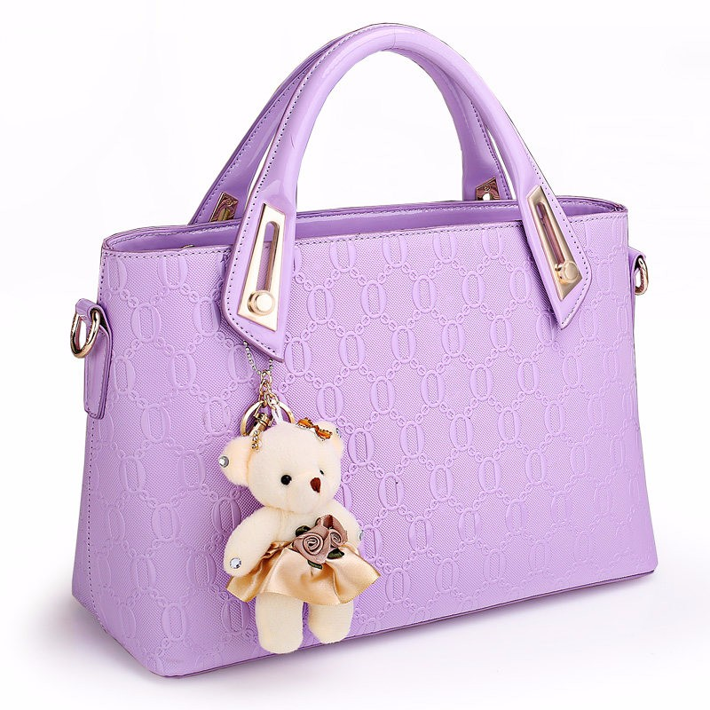 Composite Bag Fashion Korean Style Chic Embossing Handbag Women PU Leather Bag Ladies Small Shoulder Bag Casual Wrist Bag