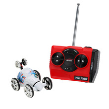 Buy Original Create Toys 2152B 40MHz 2CH Mini RC Car Rolling Rotating Wheel Stunt Car Kids' toys for $10.30 in AliExpress store