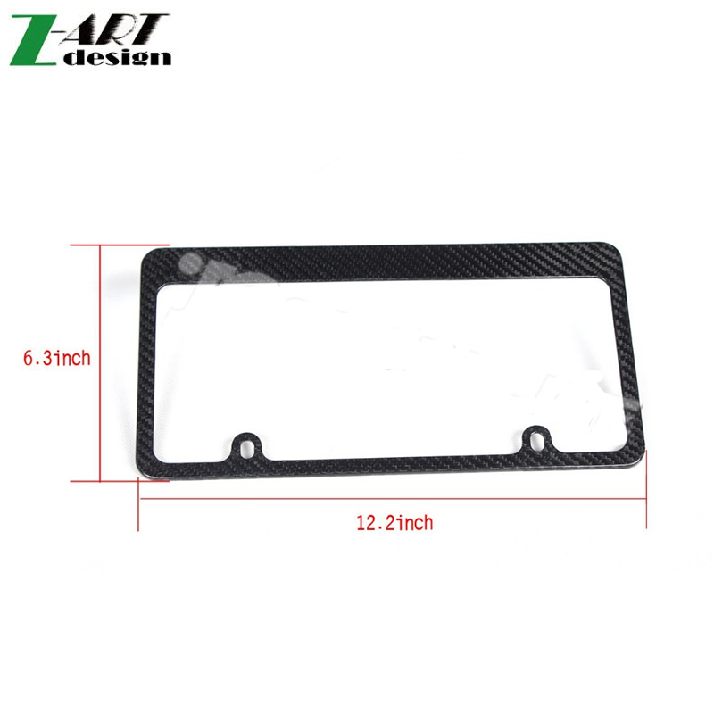 Hot selling Universal carbon fiber Car License Plate Frame high quality(China (Mainland))