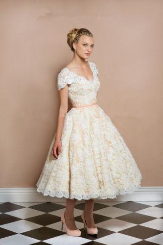 Short bridal 2015 new arrival short wedding dress white for Ivory lace tea length wedding dress