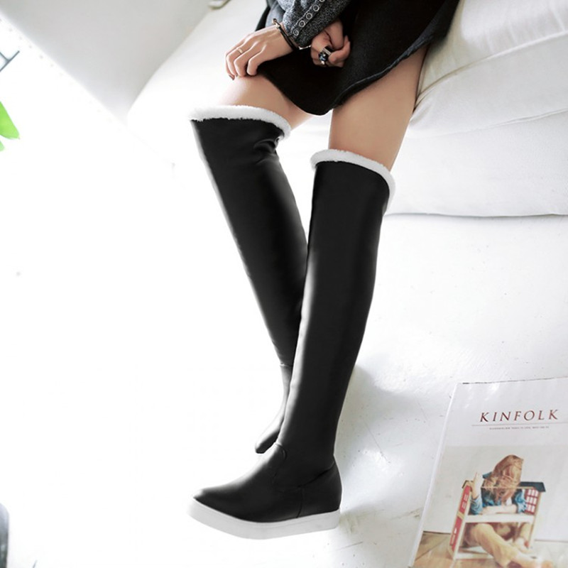 2016 Size 34 39 N1533 Women Sweet Warm Over the Knee Snow ...