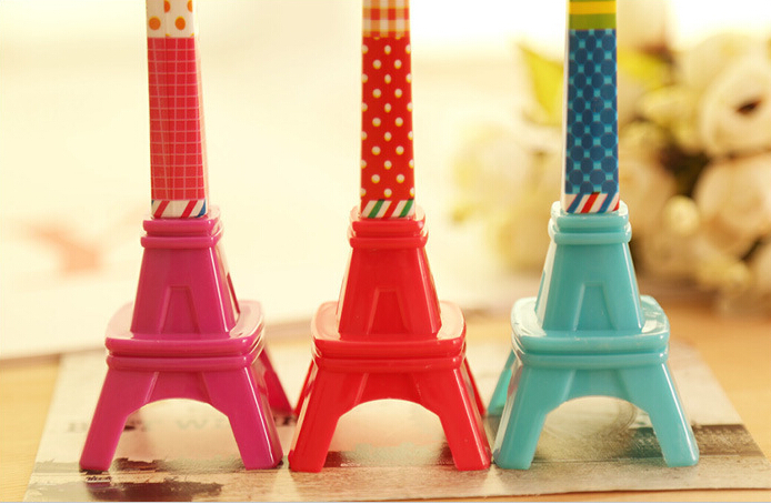 2015 new Creative stationery three-dimensional Eiffel tower ball pen gift Lovely office table students kids toy - beaubo store