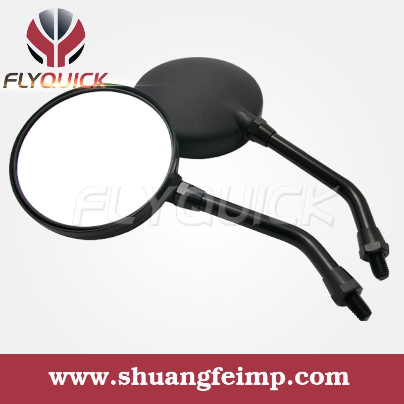 FLYQUICK 1 Pair Black Long Stem Universal Plastic Round Motorcycle Rearview Mirror Kawasaki Honda Suzuki - ONLINE SHOP store