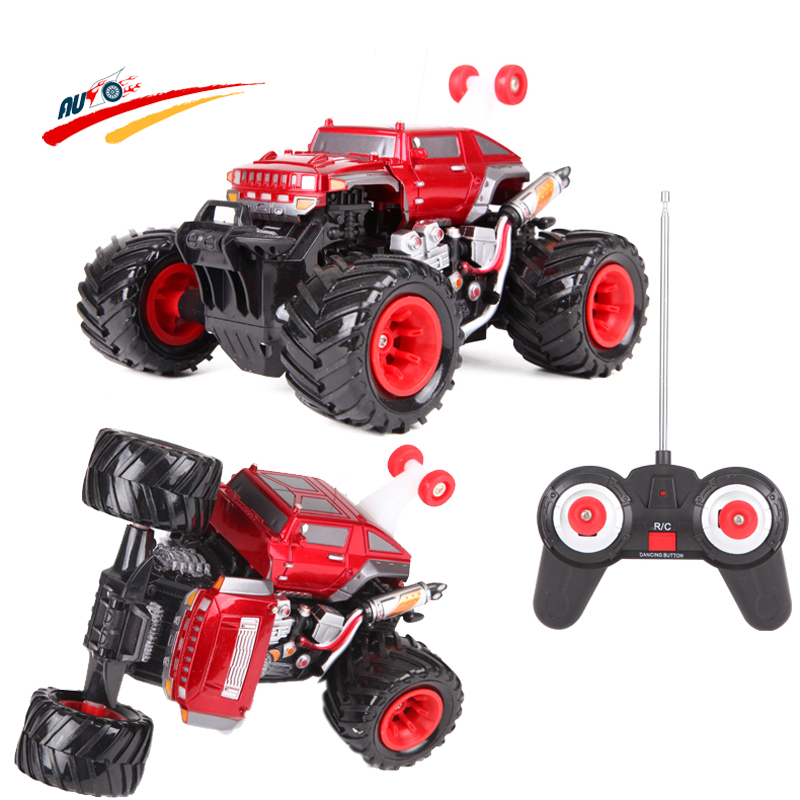 RC Car Bigfoot 4WD Stunt Dancing Transform Car with Light High-speed Off-road Radio Control Vehicle Racing Car Electric Toy(China (Mainland))