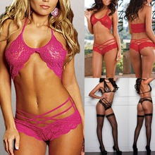 Attract Women G-string Lace Underwear Sexy Lingerie Sleepwear 3 Colors New X16