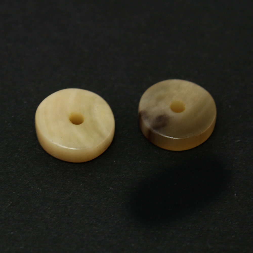Hot selling 2pcs/lot Round Natural Africa Yak Horn Bone Loose Spacer Beads for Jewelry Making BTD(China (Mainland))