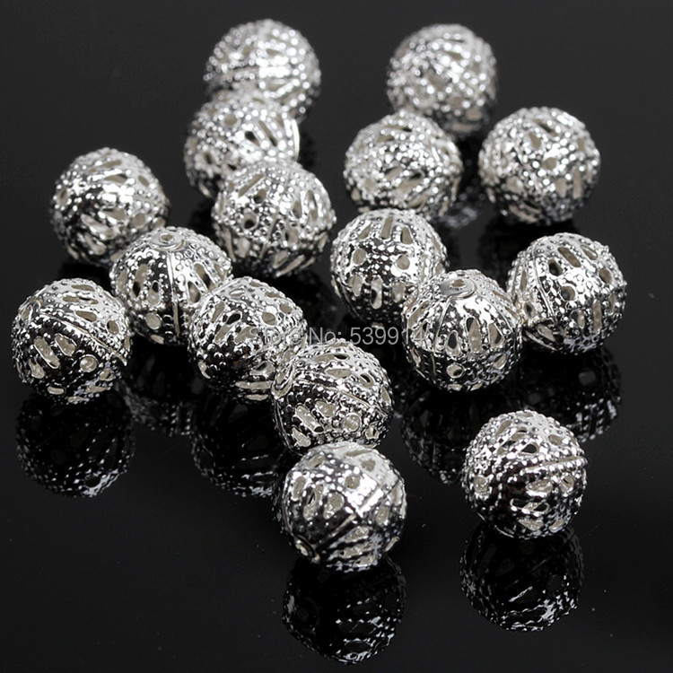 Free Shipping 6mm Silver Plated Hollow Flower Spacer Beads 1000pcs/lot(China (Mainland))