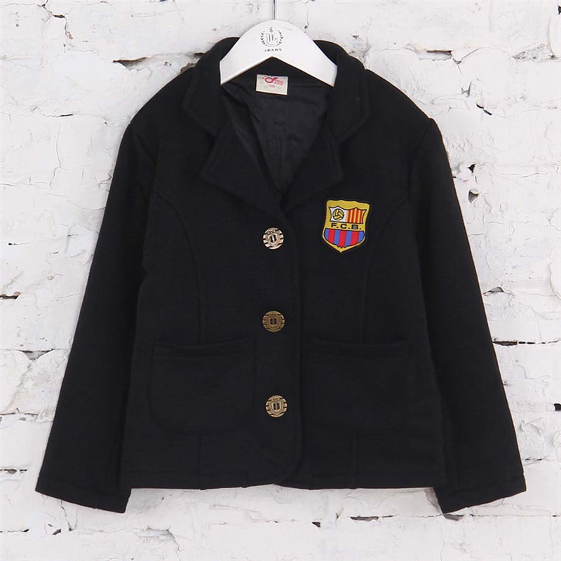 Autumn Preppy Style Badge Design Boys Blazers Baby Kids Solid Color Suits B0850(China (Mainland))