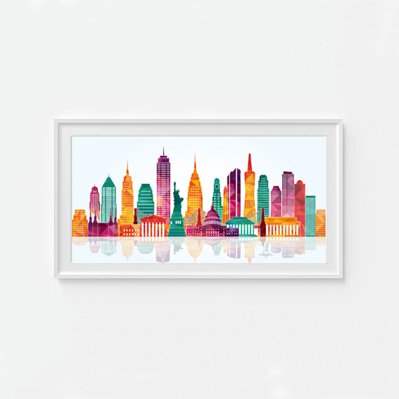 USA city landmark building Home Decor Canvas Art Print Painting Poster Frame not include Free Shipping Customizable(China (Mainland))