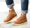 Free Shipping  Autumn Male Genuine Leather Cotton Shoes England Trend