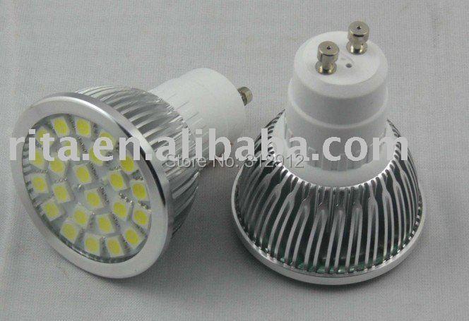24 pcs SMD 5050 led spotlight;GU10 base;350-370lm<br><br>Aliexpress