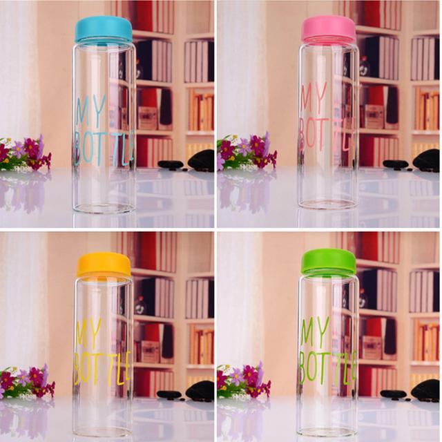 С шесть цвет воды 500 мл бутылки моего красочные здоровье фруктовый сок молочные бутылки сопровождается использовано для кемпинга