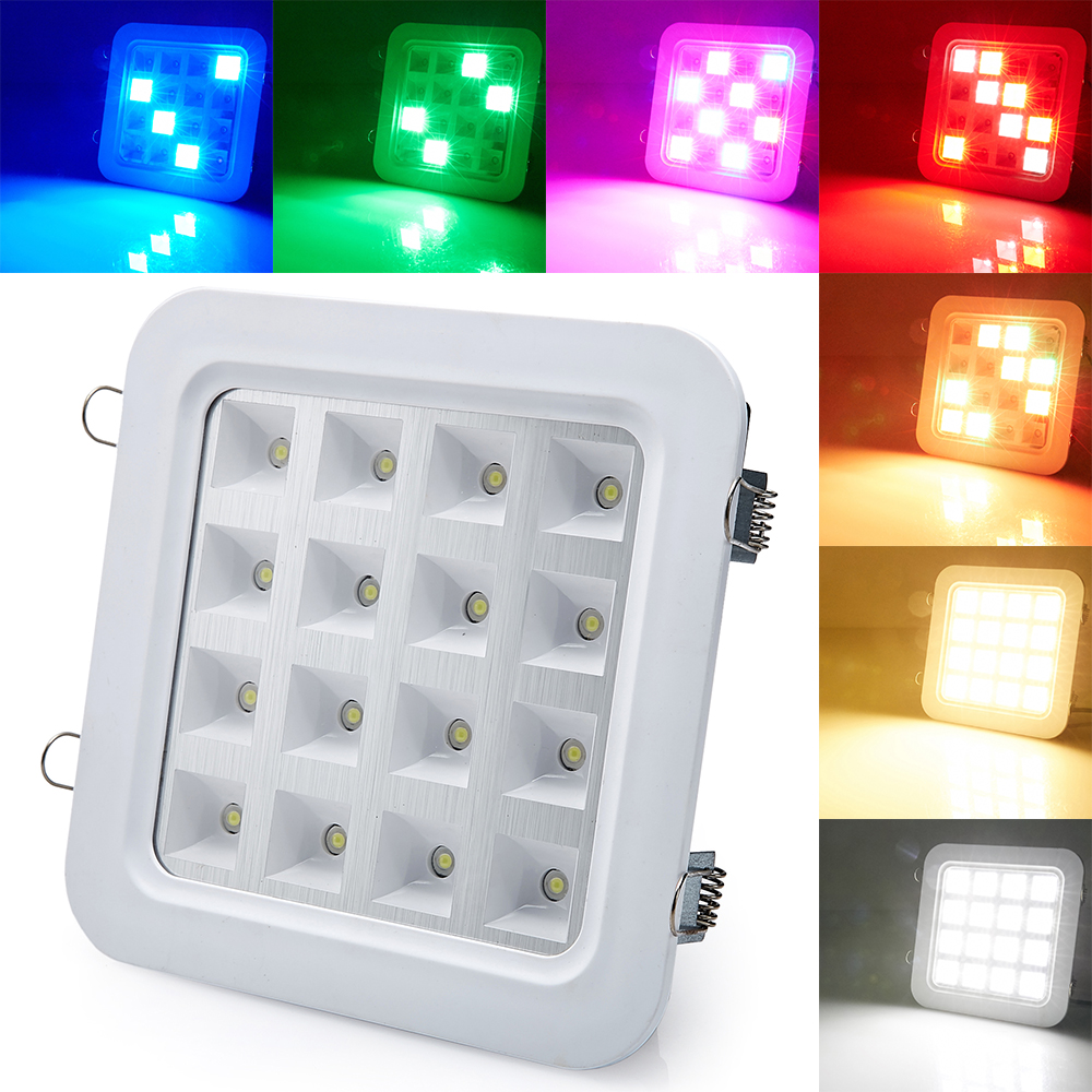 New Sound Activated Control 16W SMD5050 LED Panel DownLight Disco Party DJ Home Lamp Music Show Strobe Projector Stage Lighting(China (Mainland))