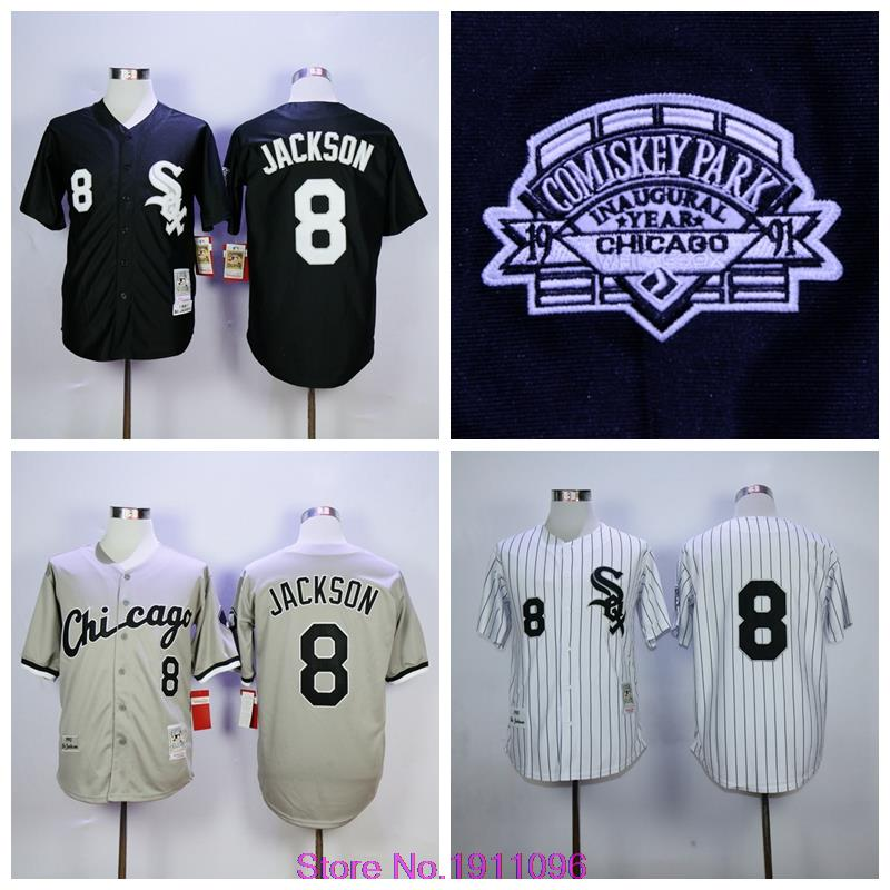 Cheap Mens Chicago White Sox Jerseys #8 Bo Jackson Throwback Baseball Jersey,Size M-XXXL <br><br>Aliexpress