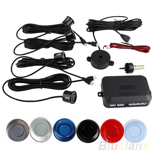 Buzzer Car Parking Park Sensor System Reversing Assistance Assist Backup Radar Sound Alert Accessories XD-058 + 4 Sensors 1N6O(China (Mainland))