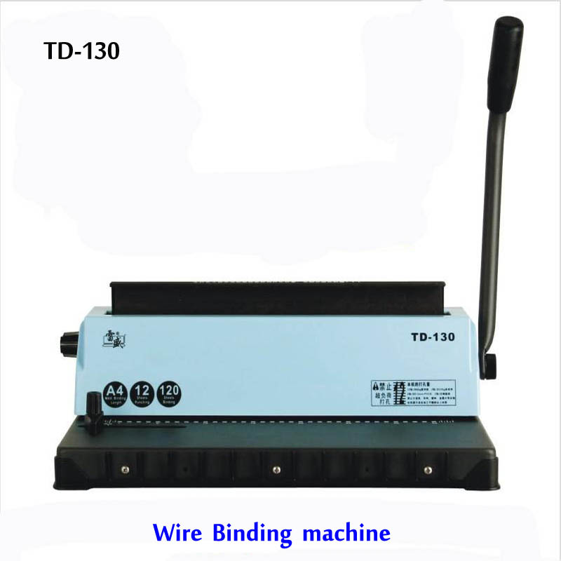 Free shipping by DHL ,A4 Wire binding machine TD-130, Small machine Big capacity.Easy Operation<br><br>Aliexpress