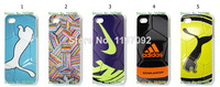2014 HOT new Football design 1pcs/lot wholesale hard white case cover for iphone 4 4s + free shipping