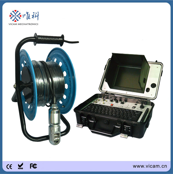 100M Pan Tilt water well camera Underwater 360 Degree Camera with 128G hard disk V8-3288PT-2(China (Mainland))