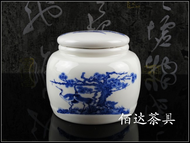 Ceramic tea pot storage tank bottles sealed cans bottles of medicine Songhe sickness porcelain tea caddy(China (Mainland))