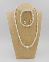 Newest Fashion Pearl beads Necklace Hot Wholesale fashion Simulated-pearl Collar Necklace jewelry sets
