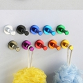 Newly Aluminium Candy Color Decorative Wall hooks racks Clothes hook Metal Towel coat Robe hook Bathroom