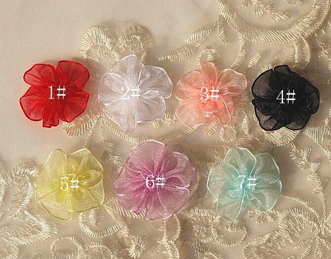 42pcs transparent chiffon flower decoration flowers flower for Aana decoration wedding accessories