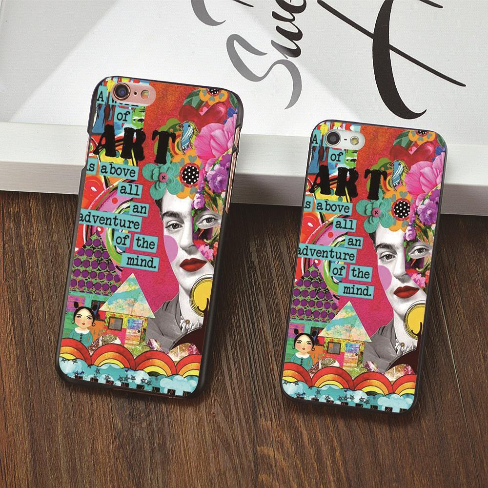 Frida Kahlo art Pattern White cover plastic Hard shell phone cases For Apple iphone 6 6s plus 5s 5 5c 4 4s