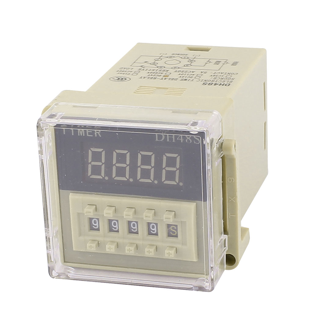 Dh48s Dpdt 2No 2Nc 8 Terminals 0.01S-9999H Electronic Timer Timing Time Delay Relay 24V(China (Mainland))