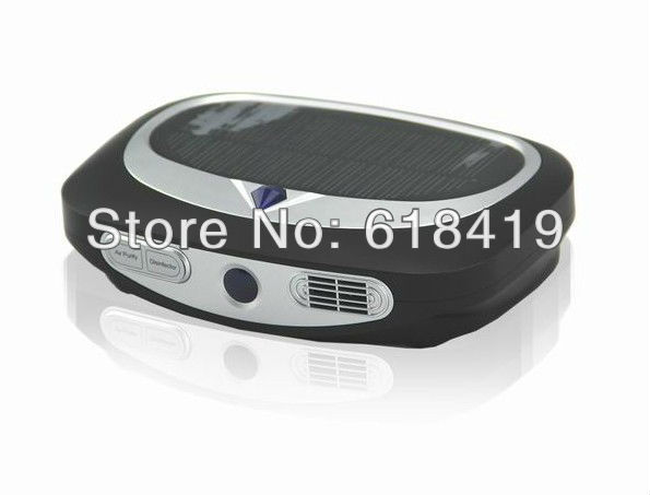 Mini Solar Car and Vehicle Air Purifier Ionizer and Ozone Generator for Freshness and smoke remover + CE(China (Mainland))