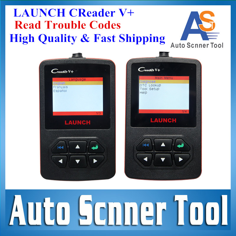 [LAUNCH Authorized Distributor] 2015 High Quality 100% Original Launch Creader V+ Code Scanner CReader V Plus Same As Creader VI(China (Mainland))