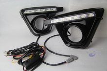Buy 2 Pcs DRL Mazda CX-5 cx5 cx 5 2012 2013 2014 2015 2016 LED DRL Daytime Running Lights Daylight Fog light cover car styling for $53.10 in AliExpress store