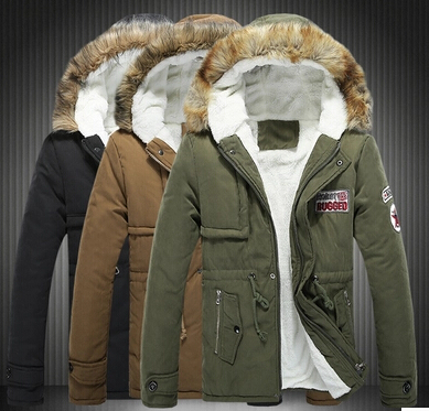 Free shipping new 2014 winter epaulet desgin plus velvet military male coat with fur hooded plus size 5xl warm jacket men/mdy7(China (Mainland))