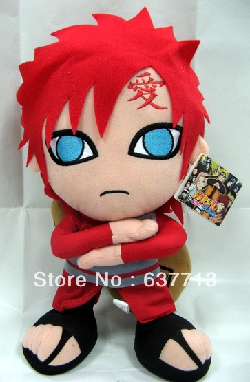 5pcs 12inch Cartoon Naruto Gaara Plush Toy Plush Doll Figure Toy new arrival(China (Mainland))