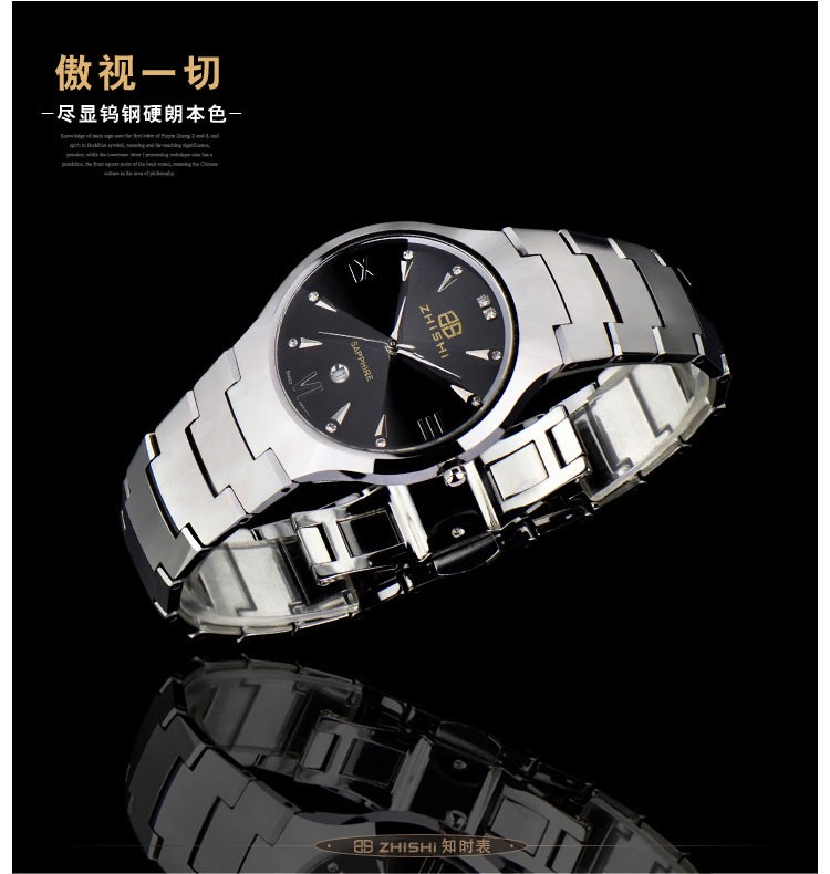 Швейцарский механизм гонконг топ люксовый бренд ZHISHI бренд мужской бизнес часы водонепроницаемые 50 м из нержавеющей стали наручные часы