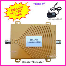 Repeater CDMA 850MHZ PCS1900MHZ Booster Dual Band Signal Amplifier RF Repeater Kit for Mobile phone signal Booster(China (Mainland))